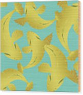 Koi Fish Sage - Lemon Wood Print