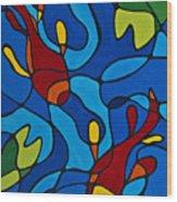 Koi Fish Wood Print by Sharon Cummings