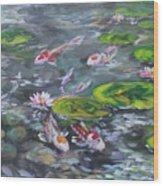 Koi Haven Wood Print