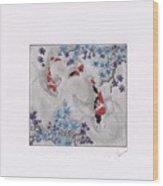 Koi In The Shade Wood Print