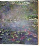 Koi N Pond Wood Print