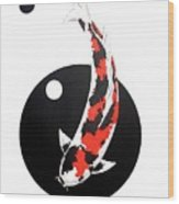 Koi Showa Circles Nishikoi Painting Wood Print