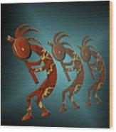 Kokopelli Wood Print by Carol and Mike Werner