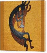 Kokopelli Golden Harvest Wood Print