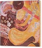 Kokopelli Jazz Wood Print