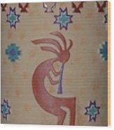 Kokopelli Wood Print