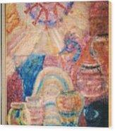 Kokopelli Zestful Spirit Dancer Wood Print