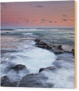 Koloa Sunset Wood Print by Mike  Dawson