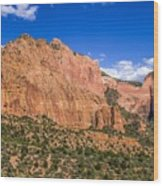 Kolob Canyon Vista Wood Print