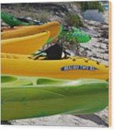 Kolorful Kayaks Wood Print