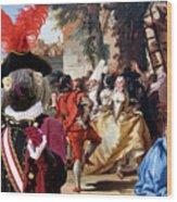 Komondor Art Canvas Print - The Carnival Dance Wood Print