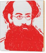 Komrade K Wood Print