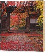 Komyoji Temple  Kyoto Japan Wood Print