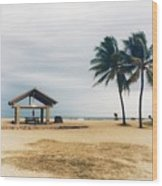 Kona Beach Wood Print