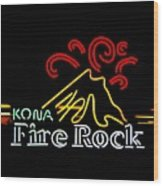 Kona Fire Rock 2 Wood Print