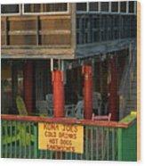 Kona Joes - Cedar Key Wood Print