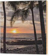 Kona Sunset Wood Print by Brian Harig
