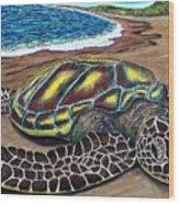 Kona Turtle Wood Print