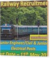 Konkan Railway Recruitment Wood Print