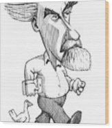 Konrad Lorenz, Caricature Wood Print