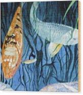 Kooky Koi Wood Print