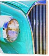 Kool Blue Wood Print