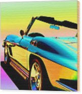 Kool Corvette Wood Print by Lynn Andrews