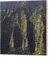Koolau Range, Oahu Wood Print