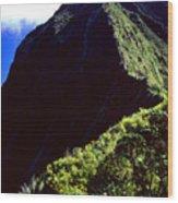 Koolau Summit Trail Ridge Wood Print