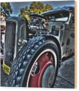 Koolsville Rat Rod. Wood Print by Ian  Ramsay