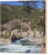 Kootenai Falls, Montana Wood Print
