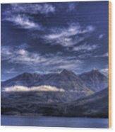 Kootenai Lake Bc Version 2 Wood Print