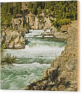 Kootenai River Wood Print