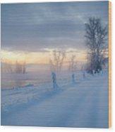 Kootenai River Road Wood Print