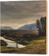 Kootenai Wildlife Refuge In Hdr Wood Print