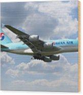 Korean Air Airbus A380 Wood Print
