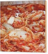 Korean Style Fermented Spicy Cabbage Wood Print