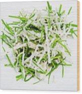 Korean Traditional Fresh Vegetable Salad Wood Print