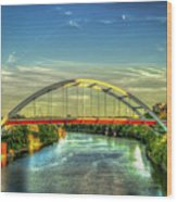 Korean Veterans Memorial Bridge 2 Nashville Tennessee Sunset Art Wood Print