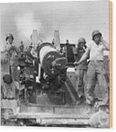 Korean War Artillerymen Wood Print