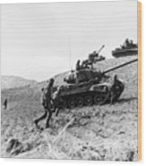 Korean War: Infantrymen Wood Print