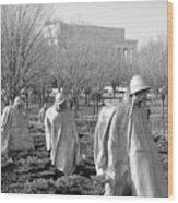 Korean War Memorial Wood Print