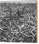 Korean War: Shell Casings Wood Print