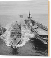 Korean War: Ship Refueling Wood Print