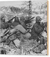 Korean War: Soldiers Wood Print