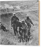 Korean War: Wounded, 1950 Wood Print