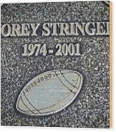 Korey Stringer Tribute Wood Print