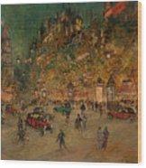 Korovin, Konstantin 1861-1939 Les Grands Boulevards, Paris Wood Print