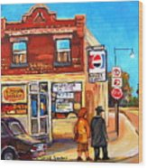 Kosher Bakery On Hutchison Wood Print
