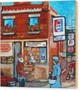 Kosher Bakery On Hutchison Street Wood Print